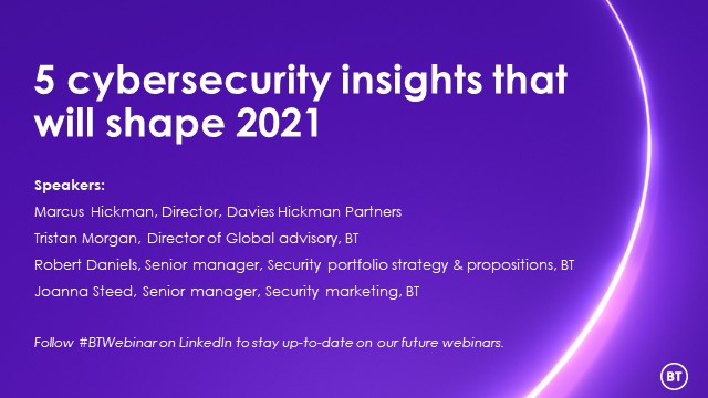 5 cybersecurity insights that will shape 2021