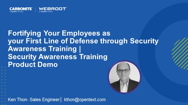 Fortifying Your Employees as a First Line of Defense|Security Awareness Training