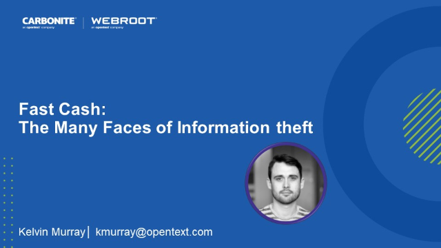Fast Cash: The Many Faces of Information theft