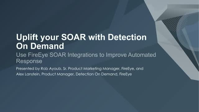 Uplift your SOAR with Detection On Demand