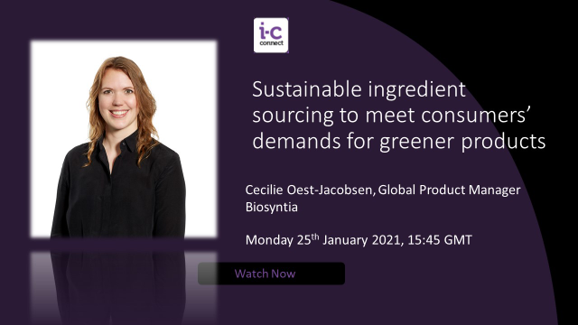 Sustainable ingredient sourcing to meet consumers' demands for greener products