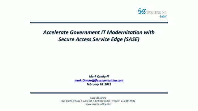 Accelerate Government Modernization with SASE