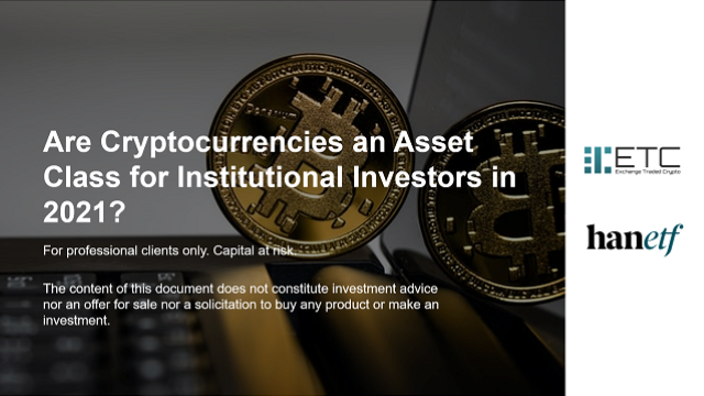 Are Cryptocurrencies an Asset Class for Institutional Investors in 2021?