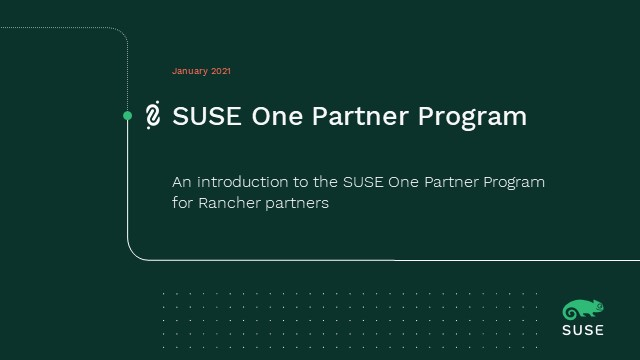 Welcome to the SUSE One Partner Program