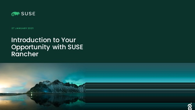 Rancher is opening up new opportunity in the SUSE One Partner Program