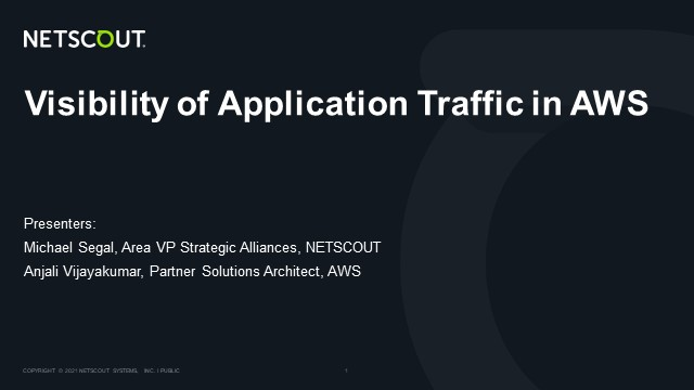 Visibility of Application Traffic in AWS