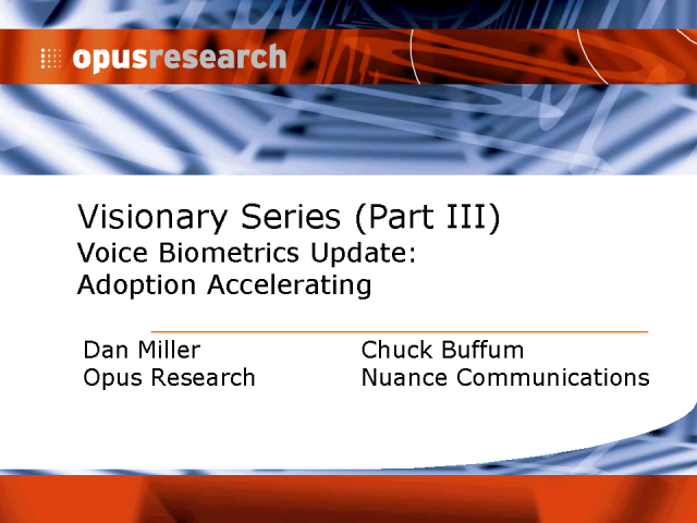 Voice Biometrics Update: Authentication at The Inflection Point
