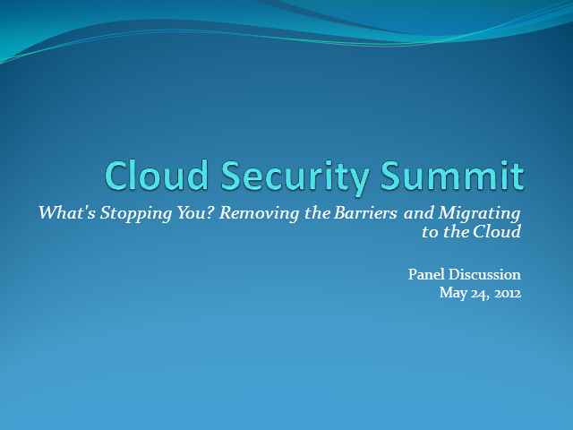 What's Stopping You? Removing the Barriers and Migrating to the Cloud