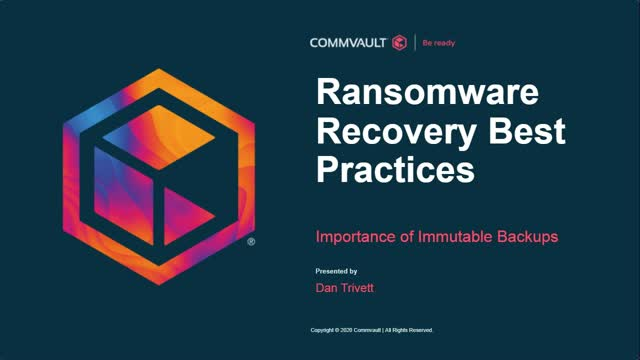 Ransomware recovery best practices – importance of immutable backups