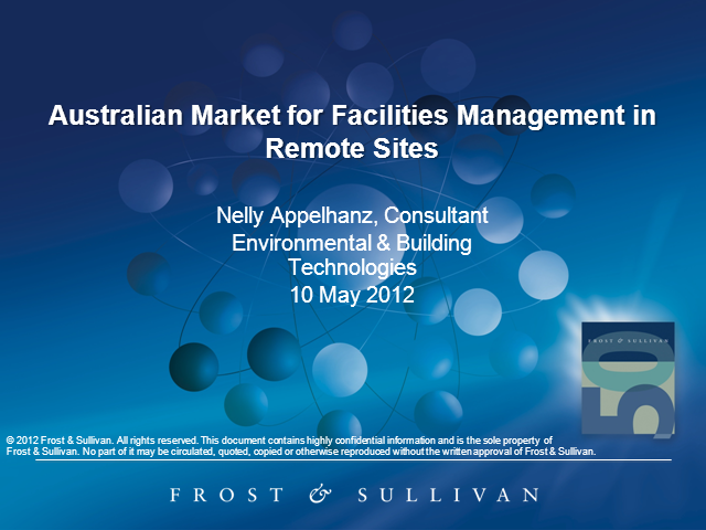 Australian Market for Facilities Management in Remote Sites