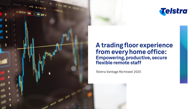 A trading floor experience from every home office