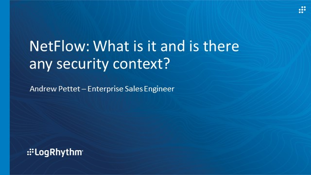 [APAC] NetFlow: What is it and is there any security context?