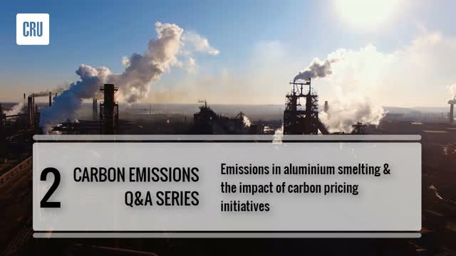 2. Emissions in aluminium smelting & the impact of carbon pricing initiatives