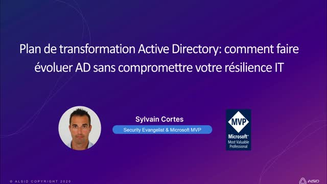Plan de transformation Active Directory