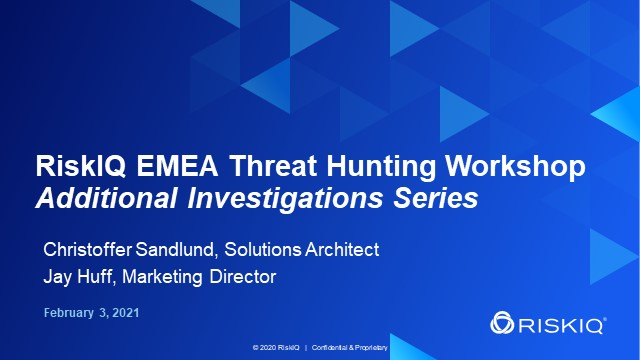 EMEA Threat Hunting Workshop - Additional Investigations Series, #4