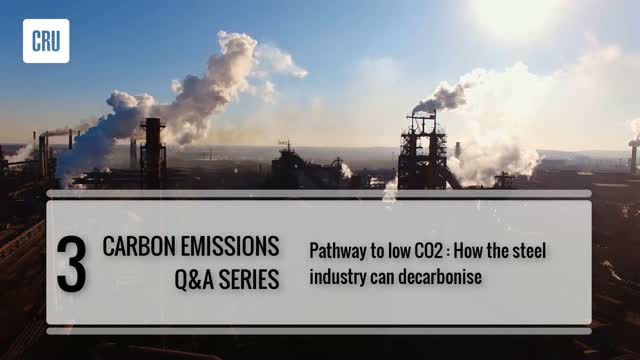 3. Pathway to low CO2: insight into how the steel industry can decarbonise