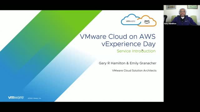 Introduction to VMware Cloud on AWS and Use Cases