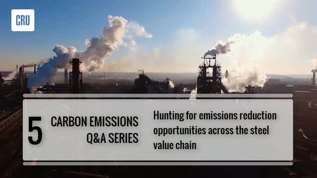 5. Hunting for emissions reduction opportunities across the steel value chain