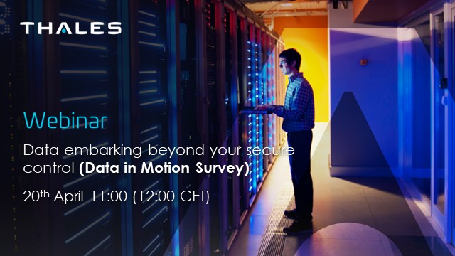 Data embarking beyond your secure control (Data in Motion Survey)