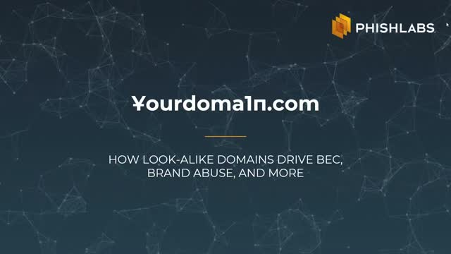 ҰourDoma1п.com: How Look-alike Domains Drive BEC, Brand Abuse, and More