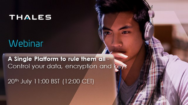 A Single Platform to rule them all - Control your data, encryption and keys