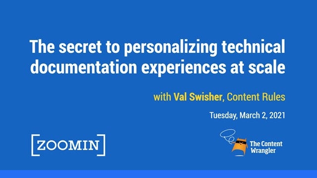 Secrets to Personalizing Technical Documentation Content at Scale