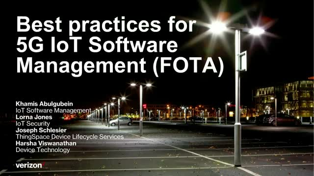 Best practices for 5G IoT Software Management (FOTA)