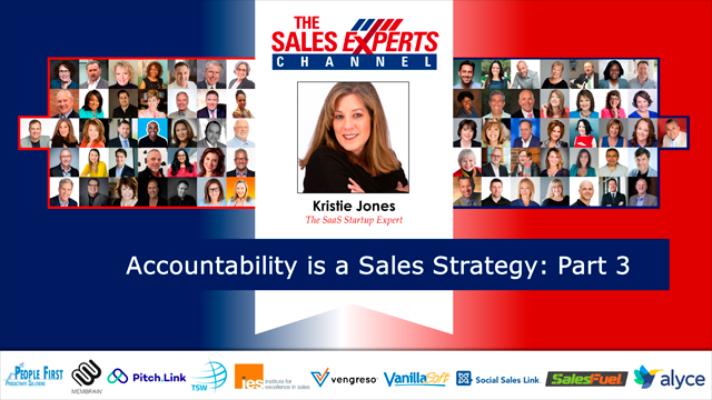Accountability is a Sales Strategy: Part 3
