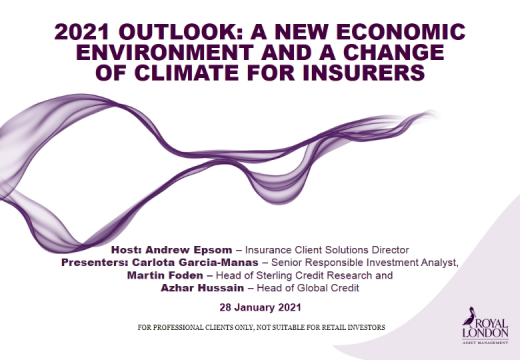 2021 Outlook – a new economic environment and a change of climate for insurers?