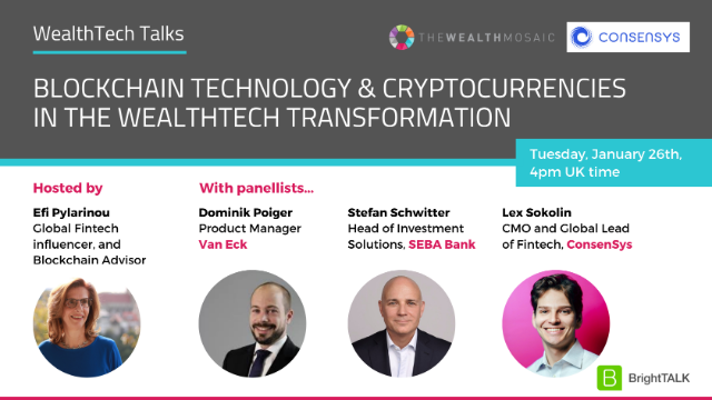 Blockchain Technology & Cryptocurrencies in the WealthTech Transformation