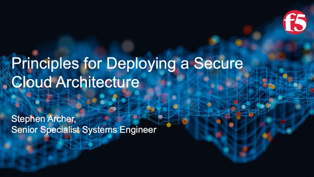 Principles for Deploying a Secure Cloud Architecture