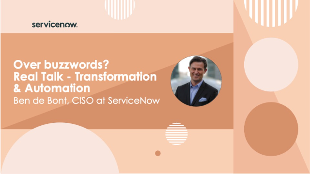Over buzzwords? Real Talk – Transformation & Automation