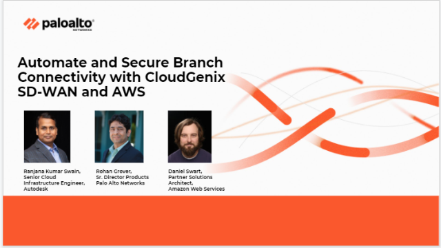 Automate and Secure Branch connectivity with CloudGenix SD-WAN and AWS