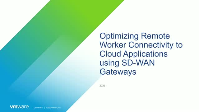 Optimizing Remote Worker Connectivity to Cloud Applications Using SD-WAN Gateway