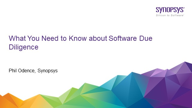 What You Need to Know about Software Due Diligence