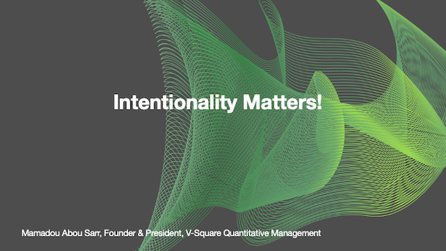 Intentionality Matters!