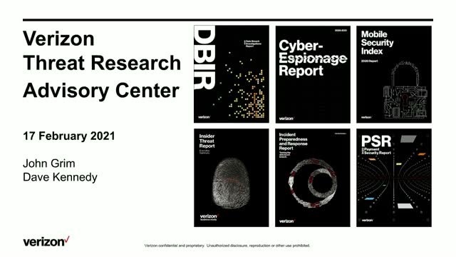 Verizon Threat Research Advisory Center MIB: Financial, Espionage