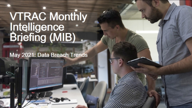 Verizon Threat Research Advisory Center MIB: Data Breach Trends