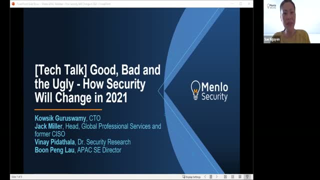 [APAC] Menlo Threat Labs - How security will change 2021 Webinar