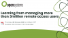 Best practices to build and manage 3M+ remote access users