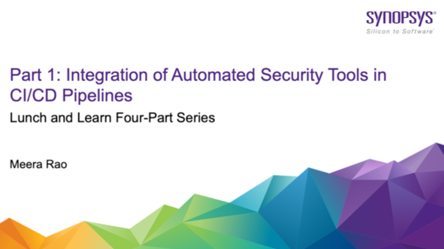 Part 1: Integration of Automated Security Tools in CI/CD Pipelines