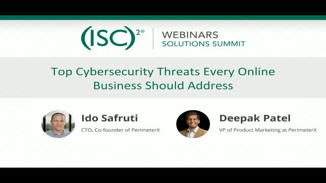 January 2020 Summit #1 - Top 5 Threats to Online Businesses
