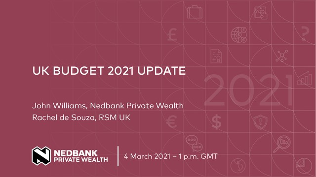 Update on the 3 March 2021 UK Budget