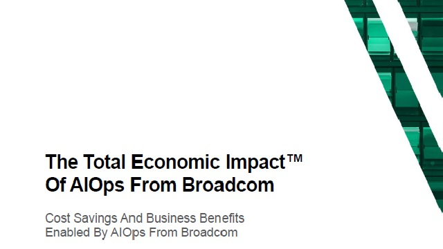 Forrester Total Economic Impact Study of AIOps from Broadcom