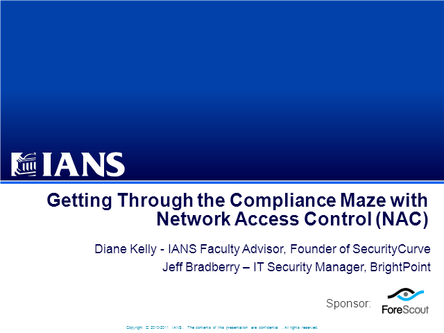 Getting Through the Compliance Maze with NAC