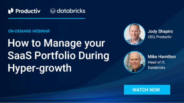 How to Manage your SaaS Portfolio During Hyper-growth