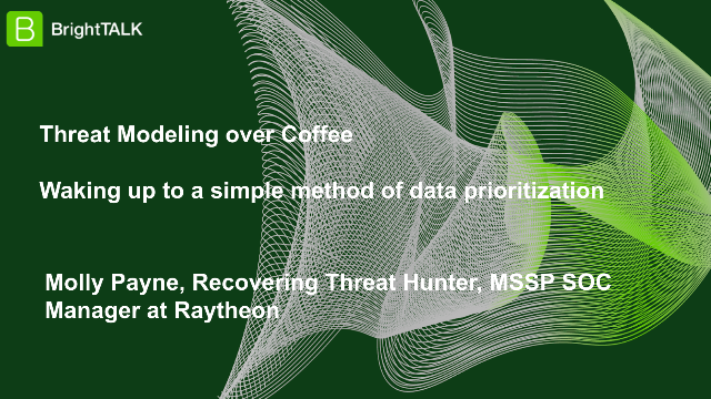 Threat Modeling over Coffee: A simple method of Data Prioritization