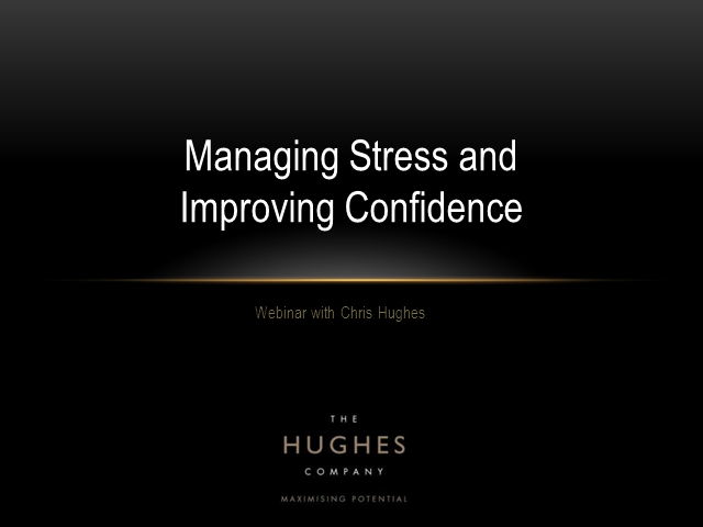 Making a Difference - Stress management and improving confidence