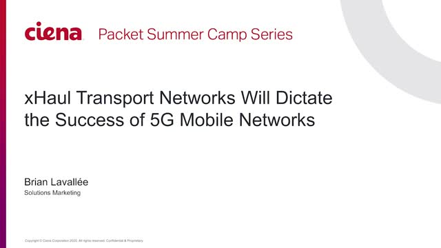 xHaul Transport Networks will Dictate the Success of 5G Networks