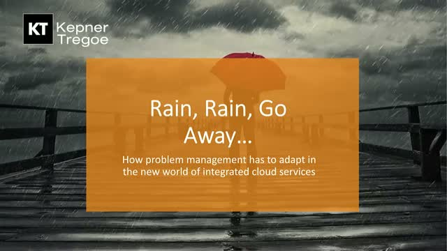 Rain, Rain Go Away: Problem Management in a world of integrated cloud services